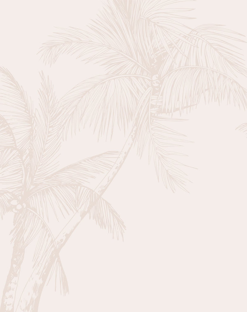 The Palms Wallpaper in Sand - Olive et Oriel