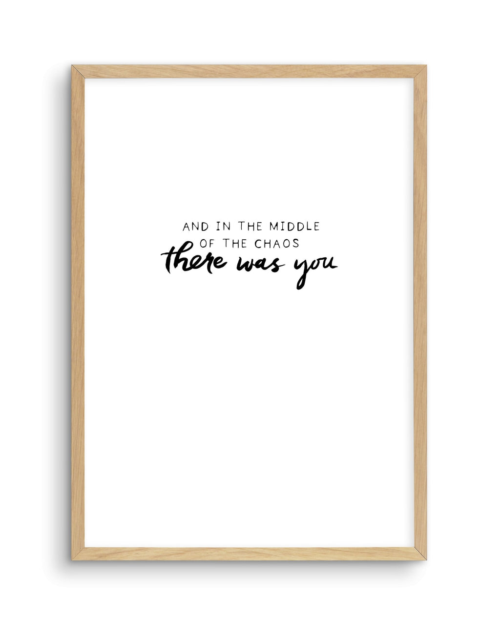 There Was You | Hand scripted - Olive et Oriel | Shop Art Prints & Posters Online
