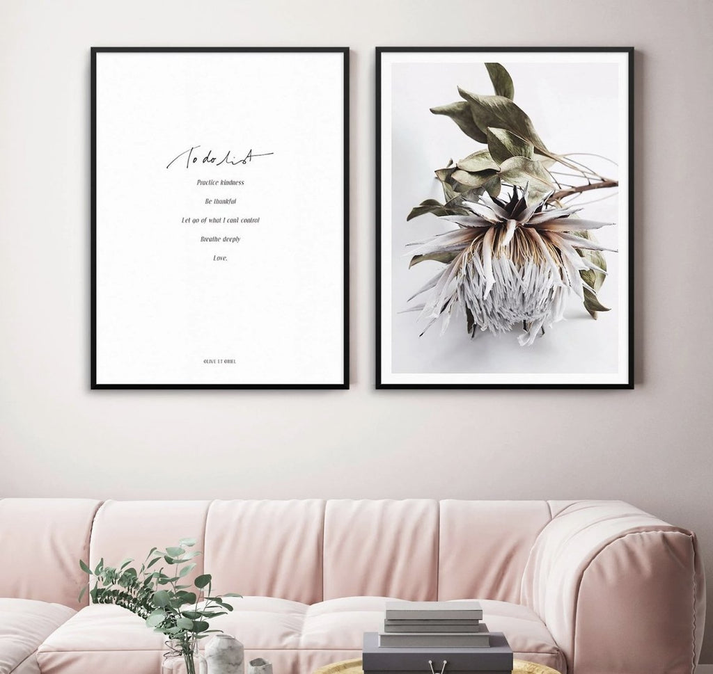 To Do List & King Protea I | Perfect Pair - Olive et Oriel