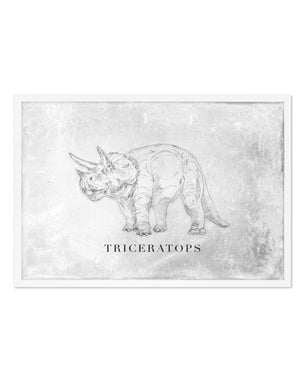 Triceratops LS | Dinosaur Collection - Olive et Oriel | Shop Art Prints & Posters Online