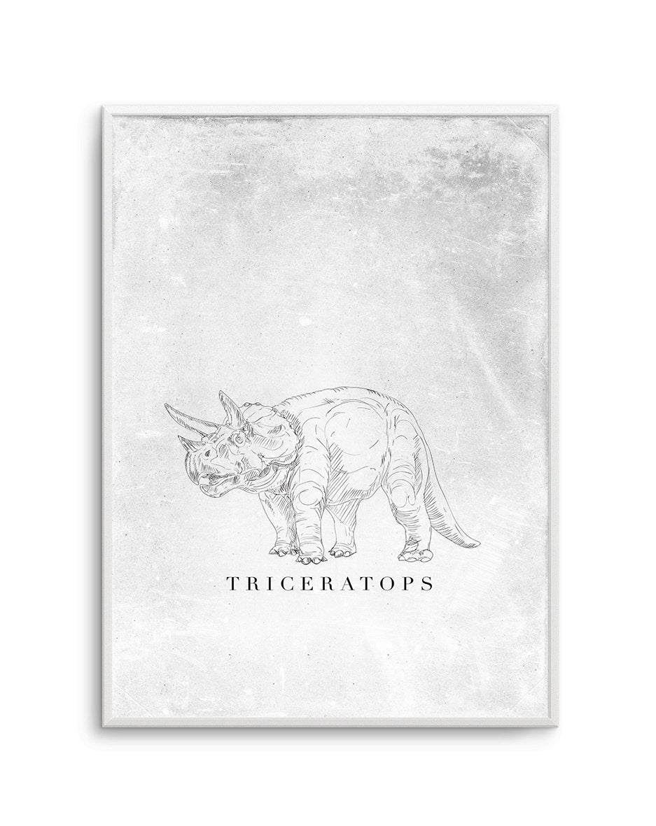 Triceratops PT | Dinosaur Collection - Olive et Oriel | Shop Art Prints & Posters Online