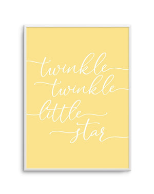 Twinkle Twinkle Little Star | 6 Colour Options - Olive et Oriel | Shop Art Prints & Posters Online