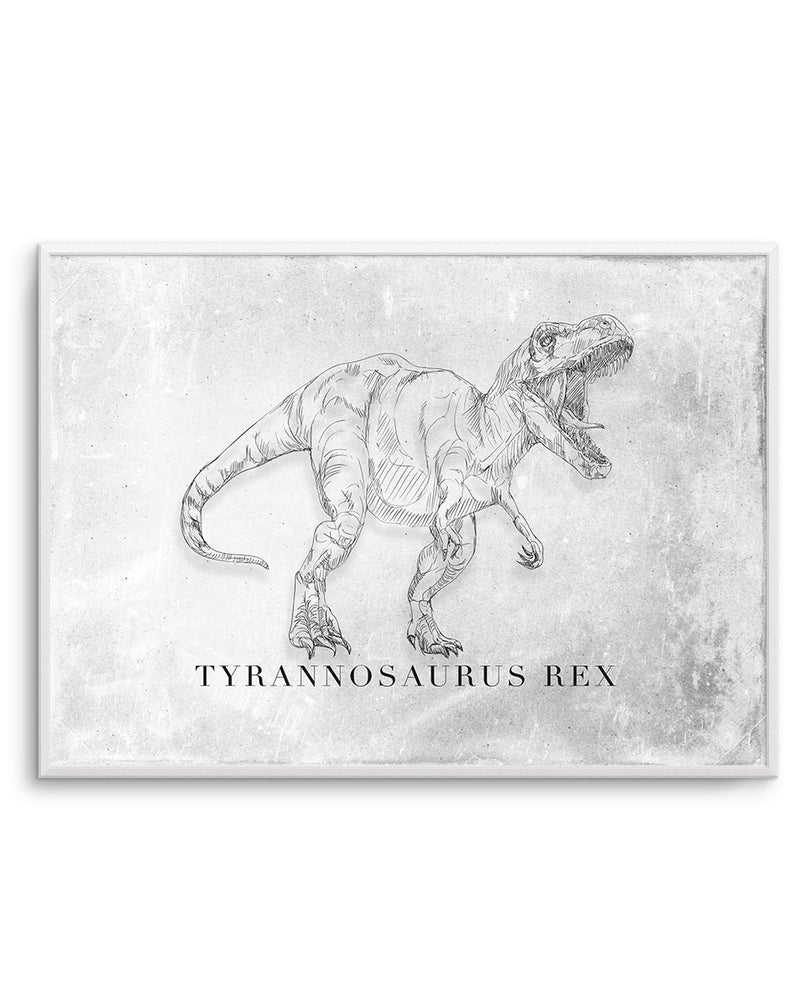 Tyrannosaurus Rex LS | Dinosaur Collection - Olive et Oriel | Shop Art Prints & Posters Online