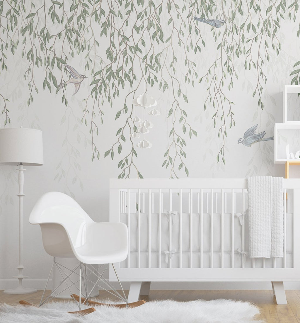 Under the Willow Wallpaper Mural - Olive et Oriel