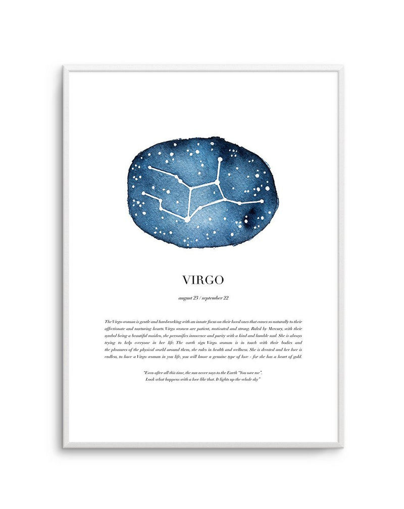 Virgo | Watercolour Zodiac - Olive et Oriel