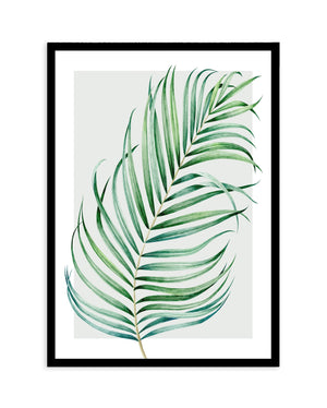Watercolour Palm On Grey No 1 - Olive et Oriel | Shop Art Prints & Posters Online