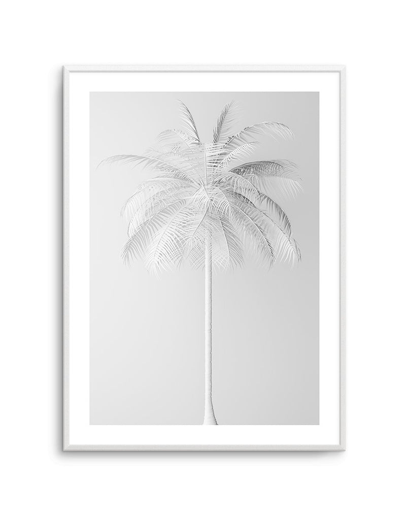 White Palm on Grey - Olive et Oriel | Shop Art Prints & Posters Online