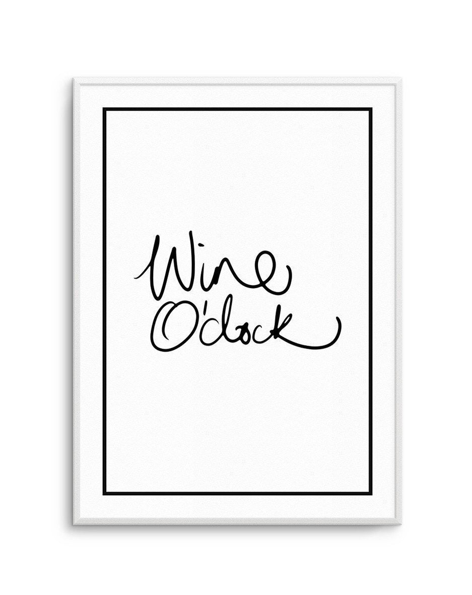 Wine O'Clock | 2 Colour Option - Olive et Oriel | Shop Art Prints & Posters Online
