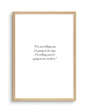 Worth It - Olive et Oriel | Shop Art Prints & Posters Online