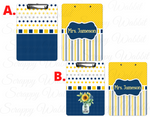 "Clipboard ""Blue Yellow"" Personalized"