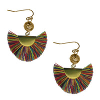 "Earrings ""Tassel Thread Fringe Earring"" Asst Colors"