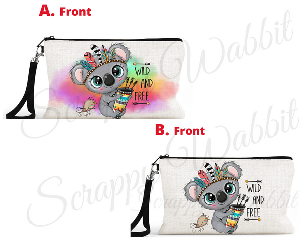 "Accessory/Essential Bag ""Boho Koala Bear"" Pencil Bag, Essentials"