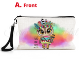 "Accessory/Essential Bag ""Boho Owl"" Pencil Bag, Essentials"
