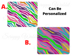 "Mousepad ""Bright Zebra"""