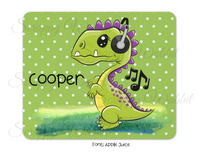"Mousepad ""Music Dinosaurs"""