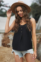 "Top ""Button Textured Cotton Tank Top"""