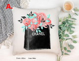 """Floral Bag"" Pillow Cover"