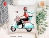 """Scooter"" Pillow Cover"