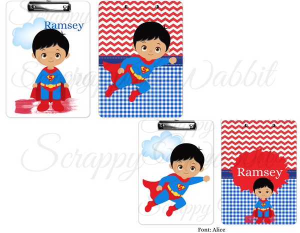 "Clipboard ""Superhero Superman"" Kids Personalized Clipboards,"