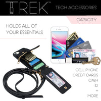 Trek Tech All-in-One Crossbody, Phone Case and Wallet for iPhone 6+7+8+