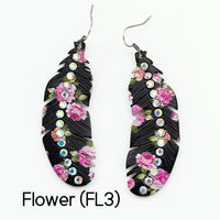 "Earrings ""Black Flower Earring"""