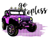 "T-Shirt ""Go Topless"" Jeep"