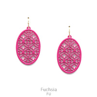 "Earrings ""Filigree Oval Earring"" Asst Colors"