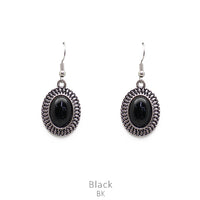 "Earrings ""Black Oval Stone Earring"""
