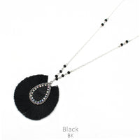 "Necklace ""Tassel Black Necklace"""