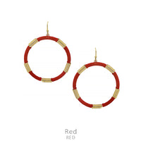 "Earrings ""Thread Wind Up Earring"" Asst Colors"