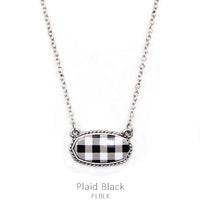 "Necklace ""Buffalo Blk/White Necklace"""