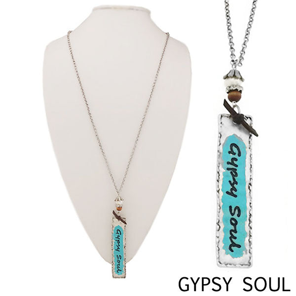 "Necklace ""Pendant Necklace Gypsy Soul"" Asst Styles"