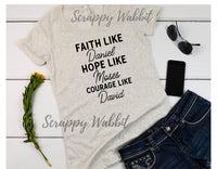"T-Shirt ""Faith Like David"""