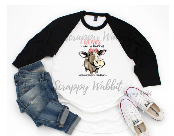 "T-Shirt ""Cows Make Me Happy"""