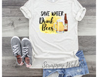 "T-Shirt ""Save Water Drink Beer"""