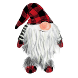 "T-Shirt ""Gnome Red Plaid"""