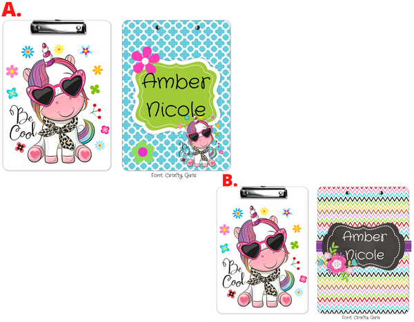 "Clipboard ""Unicorn Cool"" Kids Personalized Clipboards,"