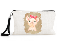 "Makeup/Accessory Bag ""Pig With Bandanal"""