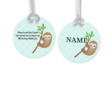 Sloth, Asst Colors, Please Don't Touch, Personalized, Car Seat, Stroller