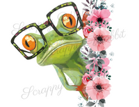 "Transfer ""Frog with Glasses"""