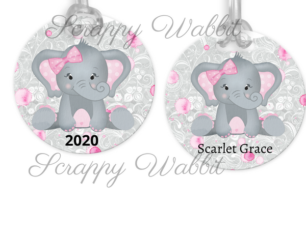 "Tag/Ornament ""Gray Elephant"""