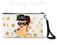 "Makeup/Accessory Bag ""Girl Lipstick Stars"""