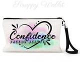 "Makeup/Accessory Bag ""Confidence Breeds Beauty"""