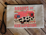"Makeup/Accessory Bag ""Rodeos and Red Lipstick"""