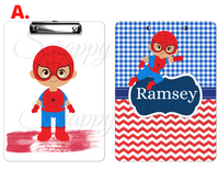 "Clipboard ""Superhero Spiderman"" Kids Personalized Clipboards,"