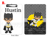 "Clipboard ""Superhero Batman"" Kids Personalized Clipboards,"