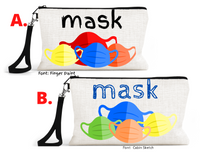 "Accessory/Essential Bag ""Mask Bag"" Clean, Dirty, Kids Mask Bags Set/2"