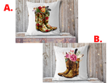 """Boots"" Cowgirl Boots, Pillow Cover"