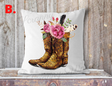 """Blue our Home"" Sunflowers, Pillow Cover"