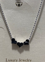 "Necklace ""Luxury 3 Heart Little Girls Necklace"""